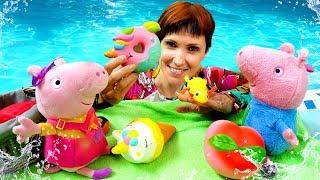 Фото Видео для детей - Свинка Пеппа и Маша Капуки. Мультик из игрушек для девочек