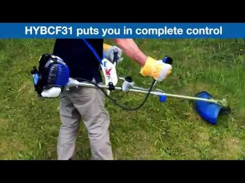 Hyundai 4-stroke Petrol Grass Trimmer / Strimmer / Brushcutter HYBCF31 In Use