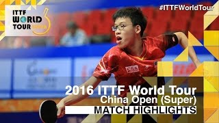 2016 China Open Highlights: Xu Xin vs Choong Javen (R32)