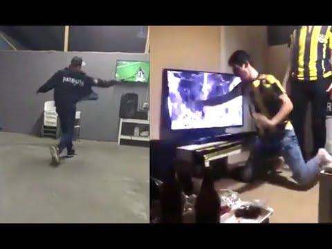 Quand les fans de sports sont fous devant la télévision ! (pétage de plombs)