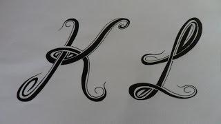Letras tribales K y L. Bases elementales para dibujar letras tribales.