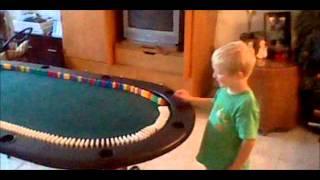 PJ'S Domino Experiment On Poker Table