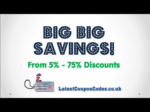 UK Latest Daily Coupon Codes, Discount Codes, Voucher Codes, Offers, Promotional Codes, UK