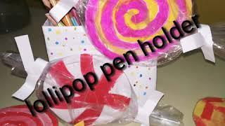 DIY:Lollypop pen holder