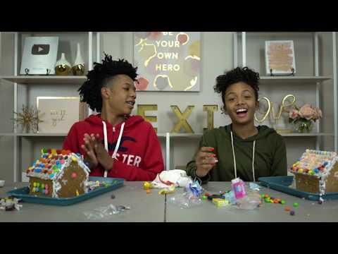 Boyfriend Vs Girlfriend Gingerbread House Challenge  + How We Met - Vlogmas Day 13