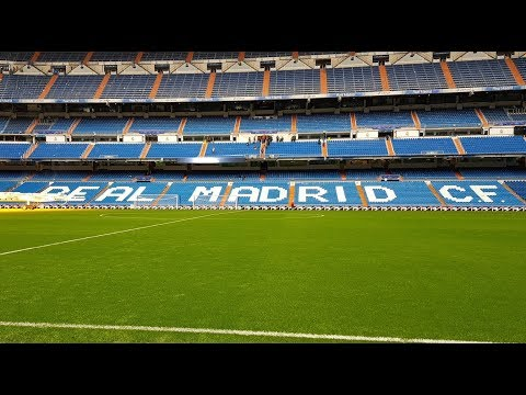 TOUR OF THE BERNABEU: Home Of Real Madrid FC: The Stadium, Trophy Cabinet, Pitch And Changing Rooms