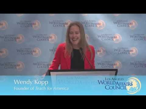Wendy Kopp, Founder of Teach for America: Education for All