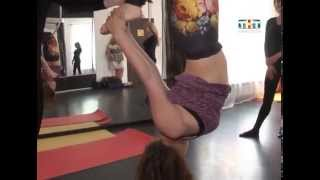 Гимнастика на полотнах и трюки на воздушных кольцах за пределами манежа