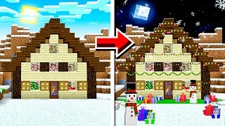 10 WAYS TO MAKE A CHRISTMAS HOUSE IN MINECRAFT!