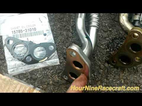 2007 and newer Sienna Oil Cooler Pipe Upgrade (oil leak deterrent/repair)