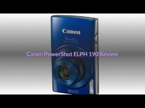 Canon Powershot Elph 190 Review Digital Camera Withoptical Zoom And Image Stabilization Youtube