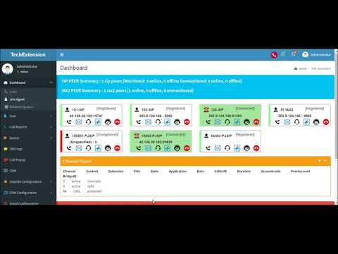 Astercti : Real Time  Live Agent  / Extension Panel Asterisk PBX