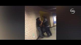 Captan violenta agresión de mujer a un hombre en estación del Metro - CHV Noticias