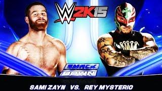 WWE 2K15 (PS3) - Smackdown: Sami Zayn VS Rey Mysterio
