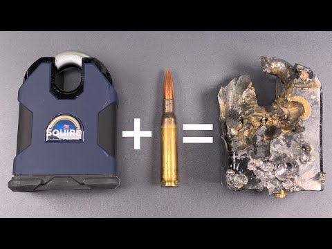 [944] .50 BMG Vs. Strongest Padlock In The World (Squire SS100CS)