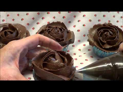 Piped buttercream rose