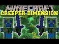 Minecraft: CREEPER DIMENSION (NEW DIMENSION, MOBS AND GEAR!) The Creep Mod Showcase
