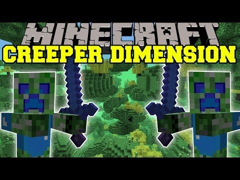 Minecraft: CREEPER DIMENSION (NEW DIMENSION, MOBS AND GEAR!) The Creep Mod Showcase