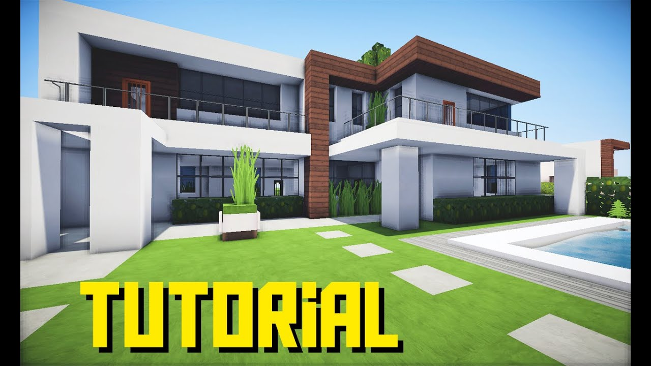 Minecraft como fazer uma casa muito moderna youtube for Casa moderna minecraft easy