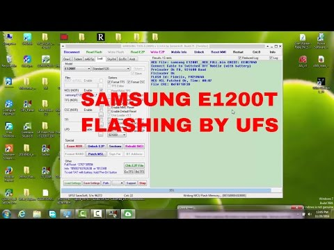 How To Flashing Samsung E1200T By Ufs