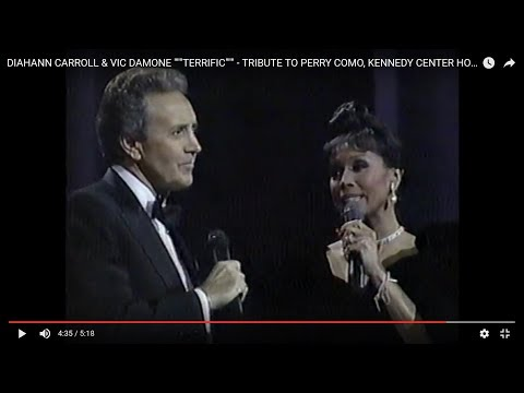 """DIAHANN CARROLL & VIC DAMONE """"""""""""TERRIFIC"""""""""""" - TRIBUTE TO PERRY COMO, KENNEDY CENTER HONORS, 1987"""