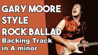 Gary Moore Style Rock Ballad Backing Track in Am
