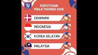 GRAFIK: Piala Thomas Bangkok 2018