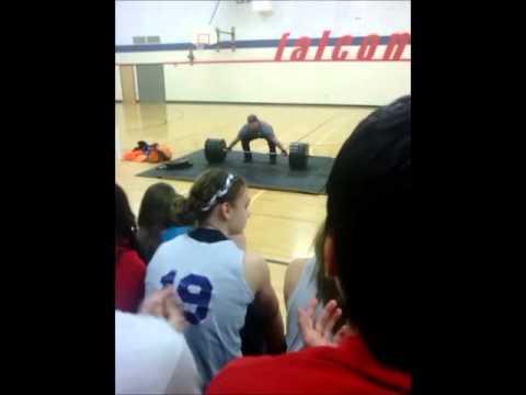 143kg Snatch @ West Sioux High School - Jared Enderton