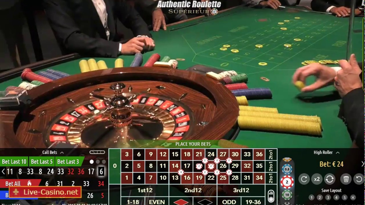 Live Roulette Table