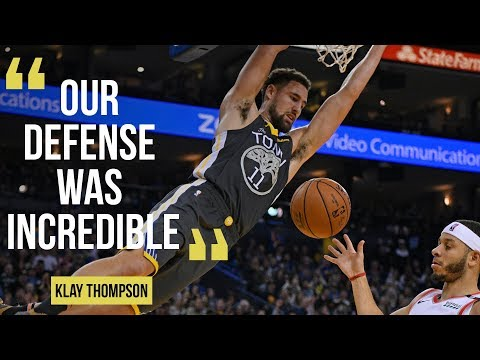 "Warriors Klay Thompson on 125-97 win Portland Trailblazers: ""Our defense was incredible."""