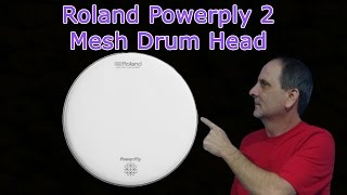 """Roland Powerply 2 MH2-14"""" Mesh Head Conversion From Acoustic Drum to Electric Drum"""