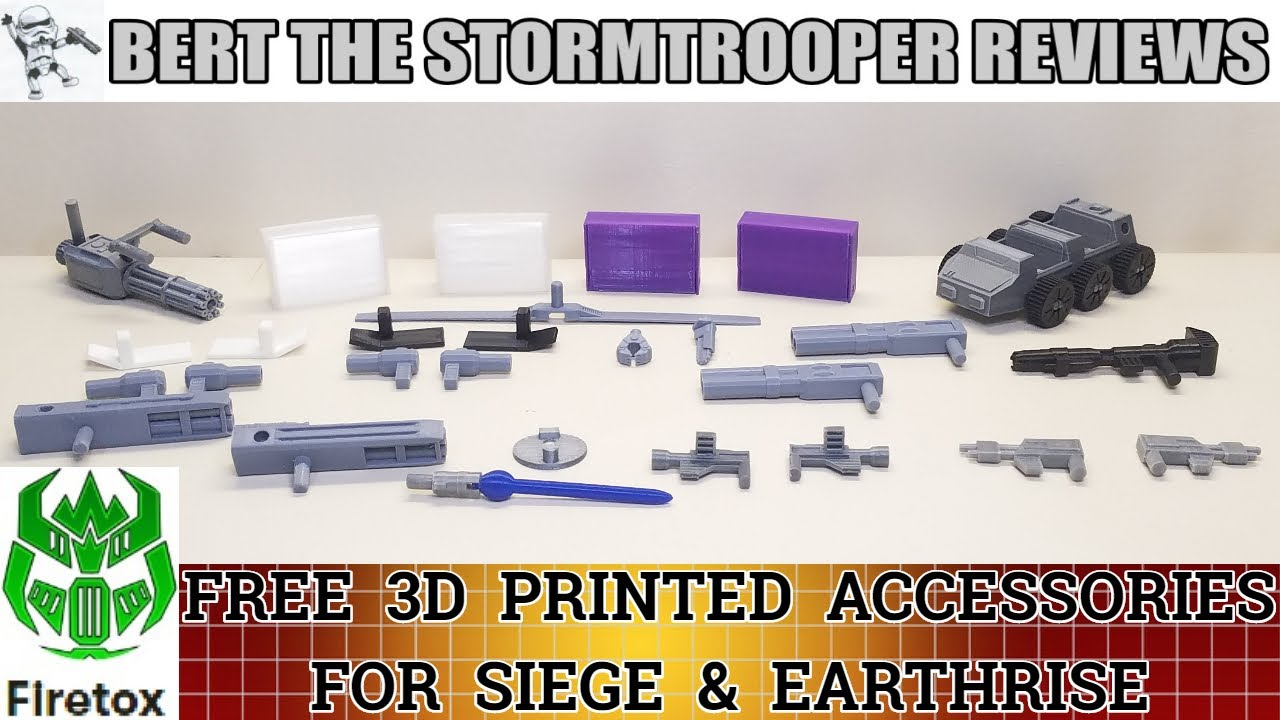 FREE Firetox 3D Printed Accessories for SIEGE & EARTHRISE Review by Bert the Stormtrooper!
