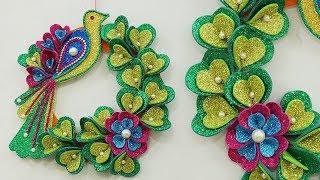 DIY Home Decoration Ideas - Beautiful DIY Christmas Wreath & X-Mas Craft   DIY Wall Hanging