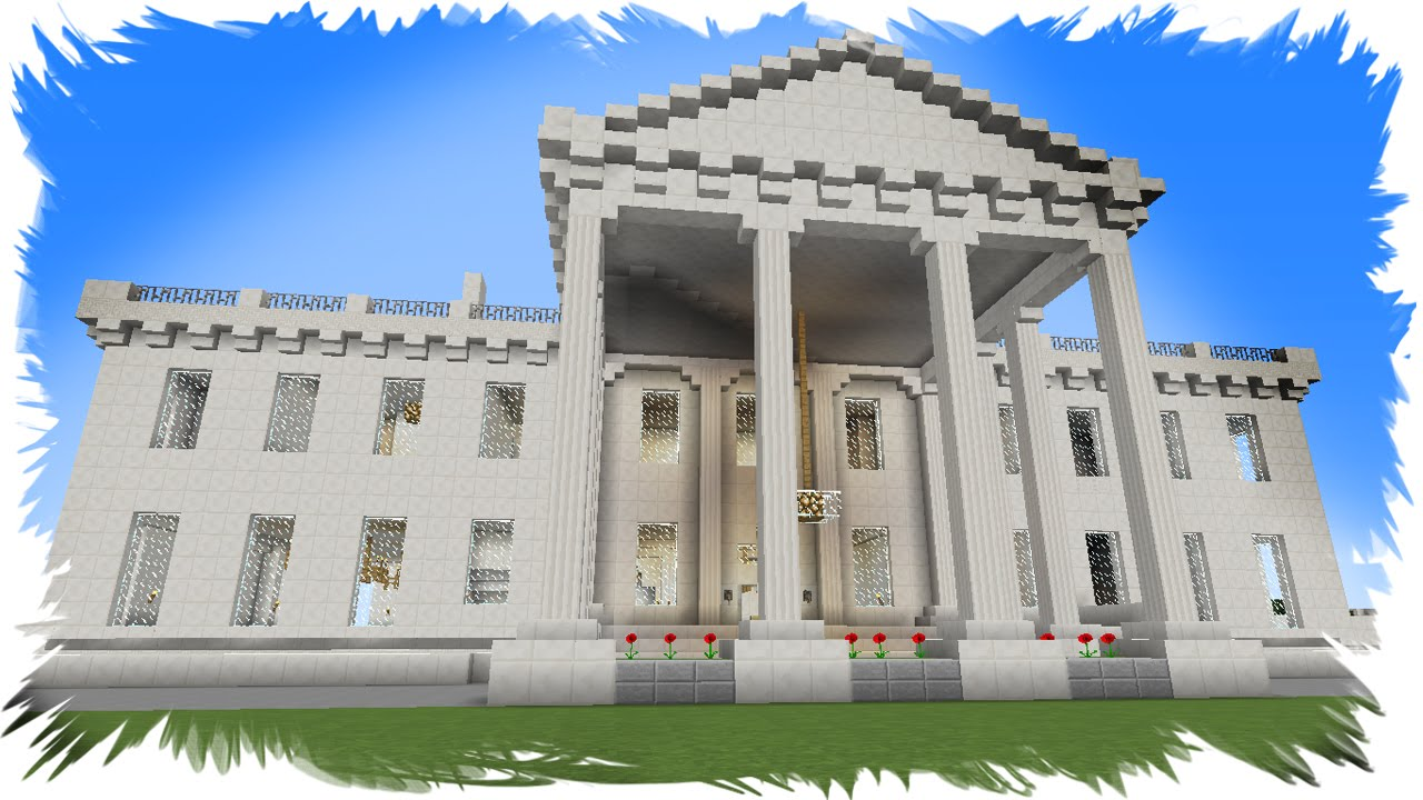 Minecraft tutorial: how to build the white house (part 1) youtube.