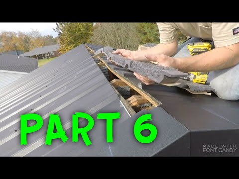 HOW TO INSTALL A METAL ROOF (PART 6)