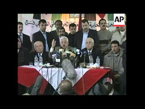 Official announcement of Palestinian candidates, reax