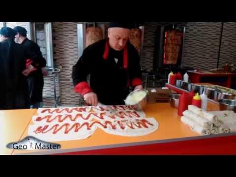 გლდანის შაურმა. Как делается самая лучшая Шаурма в мире The best Doner Kebab in Tbilisi без регистрации и смс
