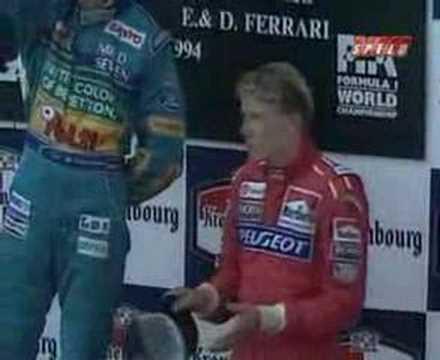 San Marino 1994 Imola Podium After Ayrton Senna's death