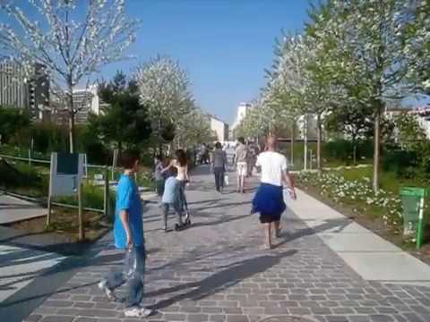Parc Martin Luther King -à Clichy-Batignolles en France
