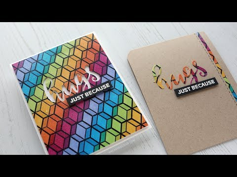 Create Your Own Rainbow Patterned Paper