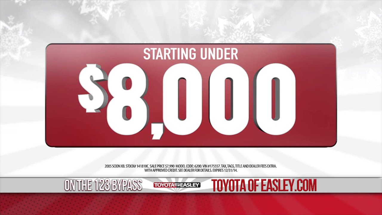 used cars under 8 000 easley sc toyota of easley youtube. Black Bedroom Furniture Sets. Home Design Ideas