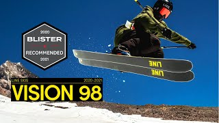 LINE 2020/2021 Vision 98 Skis - Rip Within The Resort Ropes and Well Beyond