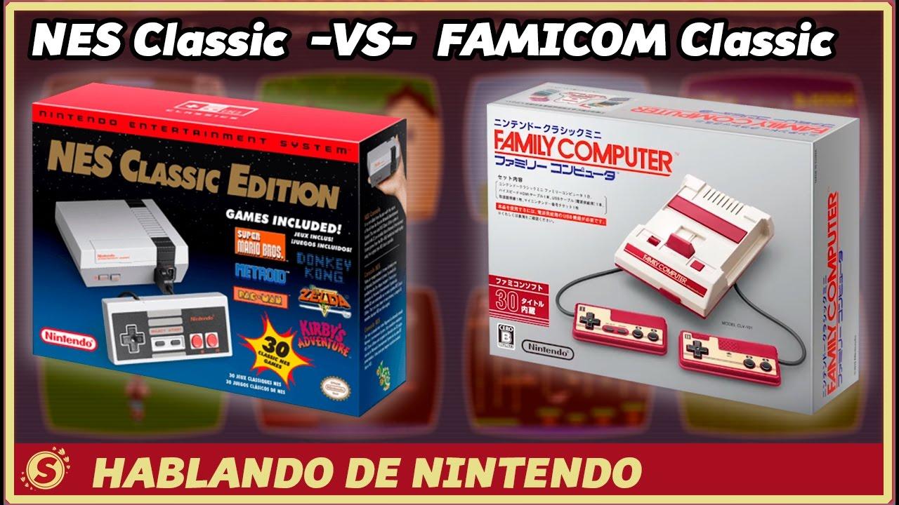 Nes Classic Vs Famicom Classic Comparativa Y Juegos Youtube