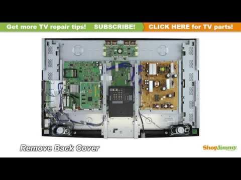 Mitsubishi LCD TV Repair How to Replace T-Con Boards LJ94-02037E