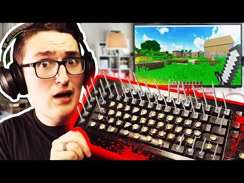 PLAYING MINECRAFT WITH MOST DANGEROUS KEYBOARD!