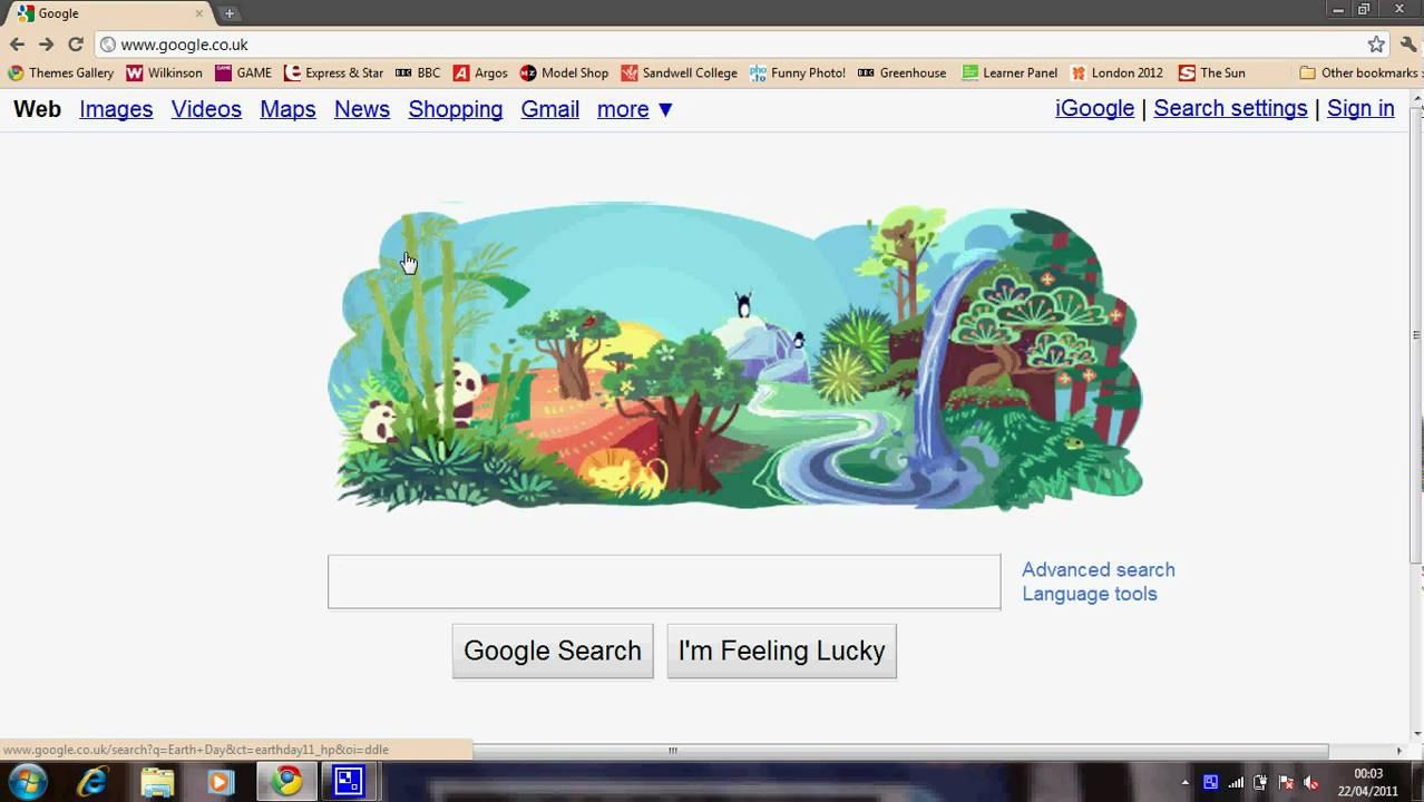 Google themes earth - Google Celebrate Earth Day