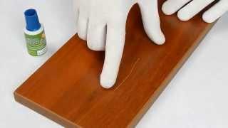 Как убрать царапину на мебели, ламинате.(Штрих мебельный. Устраняем царапину на ЛДСП. www.novator74.ru., 2015-08-18T20:57:55.000Z)