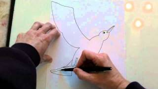 How to draw Mrs. Frisby and the Crow