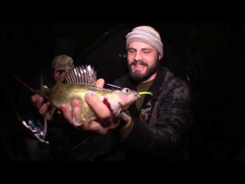 Targeting Walleye On Fremont Lake, Michigan Ice Fishing 2017