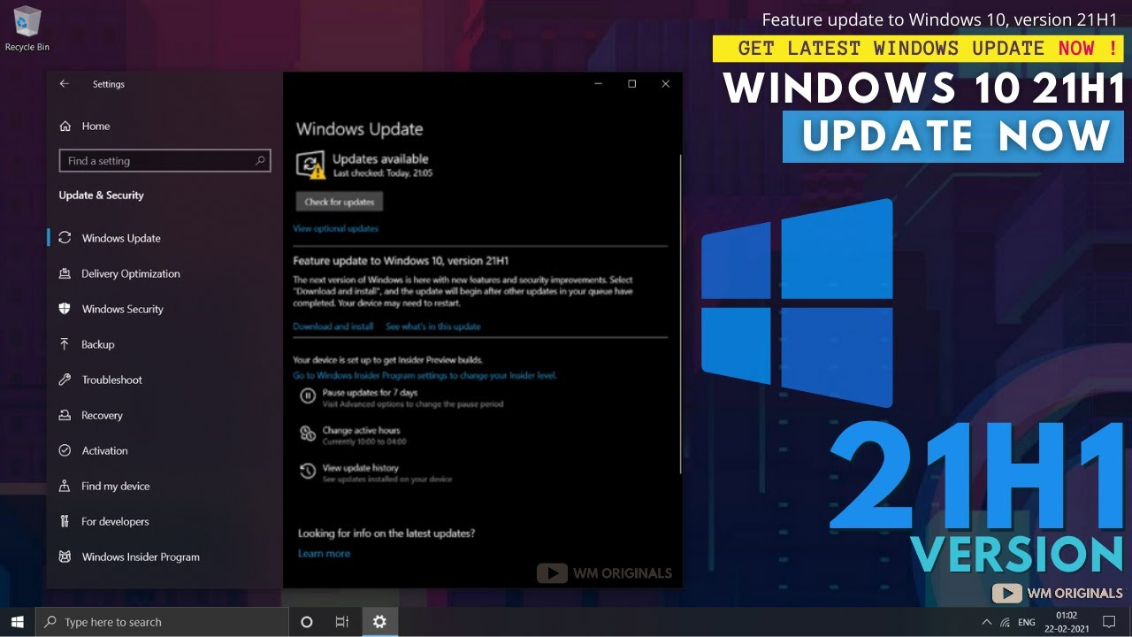 Download How to Get Windows 10 21H1 Update Now? Upgrade from Version 20H2